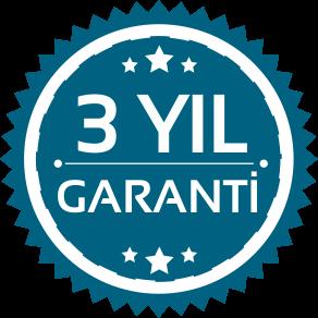 3 Yıl Garantili